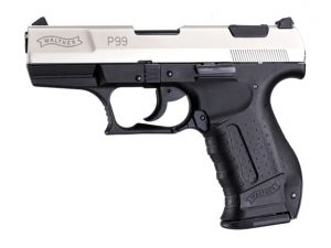 Blank pistol Walther P99 Chrome