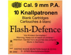 Blank cartridges Flash-Defence 9 mm. P.A.