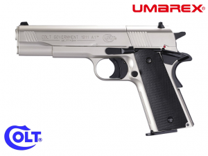 AIR PISTOLS COLT GOVERNMENT 1911 A1 NICKEL CO2 4.5