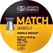 Pellets JSB Diabolo Match Middle Weight 4.5 mm.