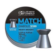 Pellets JSB Diabolo Match S100 4.5 mm.