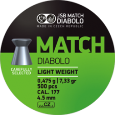 Pellets JSB Diabolo Match Light Weight 4.5 mm.