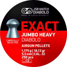 Pellets JSB Diabolo Exact Jumbo Heavy 5.5 mm.