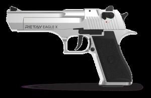 BLANK FIRING GUN RETAY EAGLE X NICKEL 9PA