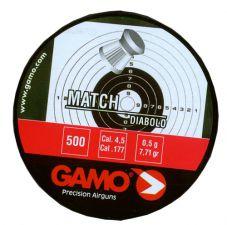 Pellets Gamo Match 4.5 mm. 500 pcs.