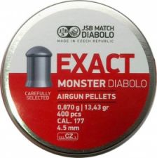 Pellets JSB Diabolo Exact Monster 4.5 mm.