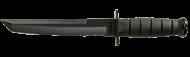 Black KA-BAR Tanto knife 1245