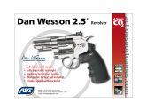 "Air revolver Dan Wesson 2.5"" Chrome 4.5 мм."