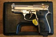 Blank pistol Ekol Voltran F92 Firat Compact Satin & Gold Engraved