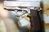 Газов пистолет Ekol Sava Magnum Satin & Gold Engraved