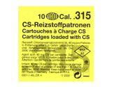 Gas cartridges CS .315 Pistol